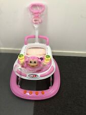 Baby Walker First Steps Activity Bouncer Musical Toys Push Along PINK BNIB
