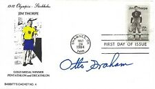 Otto Graham signed Jim Thorpe FDC NFL football quarterback Cleveland Browns HOF