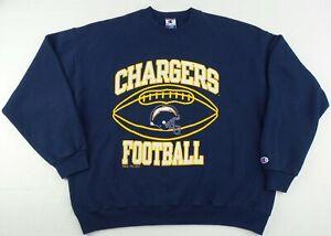 Vintage Champion NFL San Diego LA Chargers Crew Neck Sweater Size Men's XL