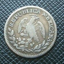 Monnaie Mexique 1/2 Real 1825 Mo JM Argent     [2925]