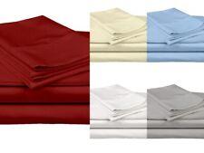 "Queen/King 100% Cotton Bedding Sheet Set 800 Tc Extra Size & Color 15"" Drop"