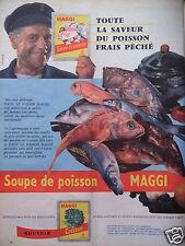 PUBLICITÉ 1958 MAGGI SOUPE DE POISSON ET CRESSON - ADVERTISING