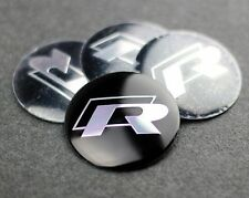 Set of 4 R Line Polo VW Sticker Wheel Center Cap Badge 57MM Aluminium Domed Hub