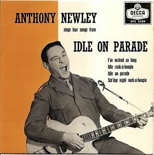 "ANTHONY NEWLEY ""IDLE ROCK-A-BOOGIE"" U.K. ROCK 'N ROLL EP 1959 DECCA 6566"