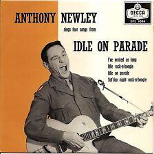 "ANTHONY NEWLEY ""IDLE ROCK-A-BOOGIE"" U.K. ROCK 'N ROLL EP 1959 DECCA 6566"