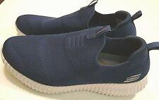 Elite Flex Hartnell Skechers Sporty Mens Size 12 Navy/White Mesh Sneakers SlipOn