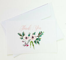 15 Thank You Cards Notes Flower Wedding Business Birthday Thankful Note THANK12
