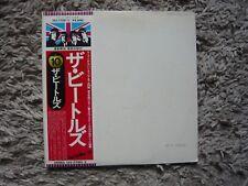 El álbum de los Beatles El Blanco Vinilo Japón 1976 bandera 10 Obi Japonés Importado Lp Exc