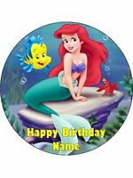 LITTLE MERMAID 19cm Edible Icing Image Birthday Cake Topper Decoration #1
