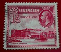 Cyprus:1934 Landscapes and Buildings 1½ Pia Rare & Collectible stamp.