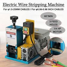 1/4HP Automatic Scrap Cable Stripper Electric Wire Stripping Machine Copper