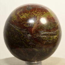 """2.2"""" Natural Dragon Blood Stone Jasper Sphere Crystal Mineral Ball - S. Africa"""