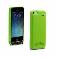 Green Backup Charger Battery Case for iPhone 5 5s 5c 1 Year Warranty Thin Light