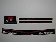 MERCRUISER ALPHA ONE BLACK GEN II DECAL SET WITH RED/GRAY TRIMS
