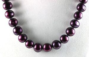 GSJ 14K  Dark Purple Pearl Necklace