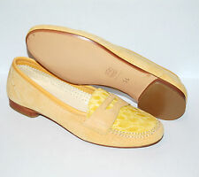 PENNY LOAFER - 38 - WOMAN -  GENUINE  CROCODILE + PERF. SUEDE - LEATHER SOLE