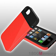 GENUINE LunaTik Flak Case Cover Black Red Dual Layer TPU For Apple iPhone 5 5S