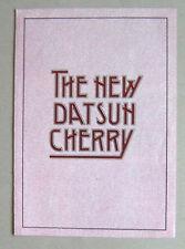 Datsun Cherry 1980 brochure gamma di auto. 3 e 5 PORTE tratteggio, Coupe, Estate 1171cc