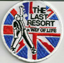 LAST RESORT A WAY OF LIFE EMBROIDERED PATCH oi! east end london skinhead music