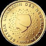 PAYS-BAS - pièce 50 cts. euro 2001 - Reine Beatrix - TB