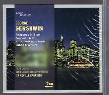 NEVILLE MARRINER CECILE OUSSET ( 2 CDs NEW) GERSHWIN RAPSODY IN BLUE