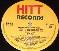 "POBI I Found the Way 12"" RECORD RARE CANADA DISCO ELECTRO SYNTH POP"