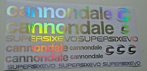 Decals fit Cannondale SuperSix EVO 2020 Stickers. Silver,gold, rainbow chrome
