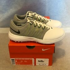 NEW Nike Lunar Empress 2 Golf Shoes White/Grey Women's Size 6 WIDE 819041-100