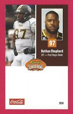 NATHAN SHEPHERD 2018 REESE'S SENIOR BOWL RC FORT HAYS STATE TIGERS ROOKIE CARD