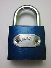 40MM BLUE HEAVY DUTY PADLOCK FOR LOCKERS SUITCASES GARAGES 3 KEYS WORK BIKE SHED