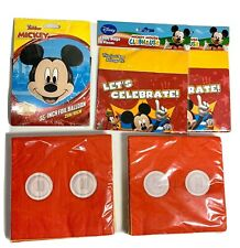 Mickey Mouse Party Supply Lot - Napkins, Ballons, Loot Bags