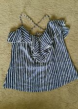 Fresh Soul ruffled stripe top sz12 preowned excellent cond D25
