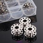 25 Empty Metal Bobbins Spool With 25 Grid Storage Case Box for Sewing Machine