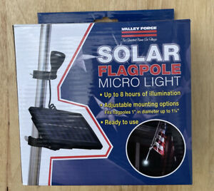 Valley Forge FPML-1 25 lm. Solar Flagpole Micro LED Light *New