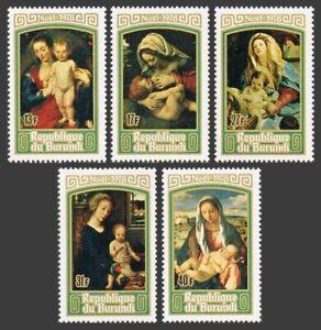 Burundi 543-547,C270,MNH.Michel 1468-1472,Bl.107. Christmas 1978.Virgin & Child
