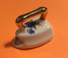 Vintage porcelain mini Iron Floral Decor gold Colored Handel Decoration