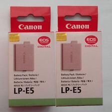 2x LP-E5 Batteries Fr Canon EOS-Rebel XSi 450D 500D 1000D EOS-Kis F T1i XS X2 X3