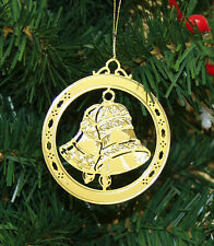 Personalized Bells High Polished Brass Christmas Ornament Custom Gift