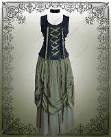 Steampunk Renaissance Victorian Gothic Ensemble Top & Bustle Skirt
