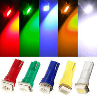 10x T5 286 5050 1 SMD LED Car Wedge Speedo Dashboard Side Lights Lamp Bulb 12V