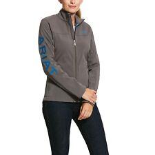 Ariat ® Damas nuevo equipo insignia Ciruela Gris y azul Softshell Jacket 10031426
