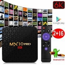Android 9.0 PIE Smart TV Box 6K MX10PRO 16GB Media TV Player USB HDMI WiFi