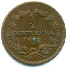 Baden, Leopold, 1/2 Kreuzer 1852