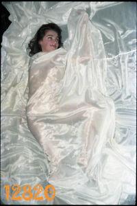 orig. vintage negative! sexy girl under transparent veil 1980's Hungary
