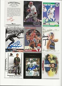 ASSORTED   PEOPLE     9   CARD   AUTOGRAPHED   LOT