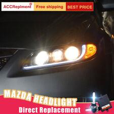 2Pcs For Mazda 6 Headlights assembly Bi-xenon Lens Projector LED DRL 2004-2008