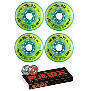 Revision Wheels Inline Roller Hockey Recoil Firm 78A W/ Bones Bearings (4-Pack)