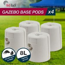Set of 4  Gazebo Base Weight Anchor Pods For Sand and Water Marquee 8L each