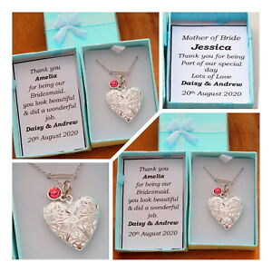 Bridesmaid Gift -PERSONALISED Thank you gift for mother of bride flower girl(17)
