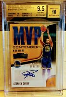 2018-19 PANINI CONTENDERS STEPHEN CURRY /199  MVP AUTO BGS 9.5/10 TRUE GEM MINT!